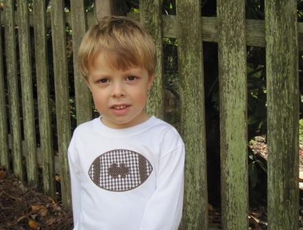 Football Shirt-football, applique, boy, fall