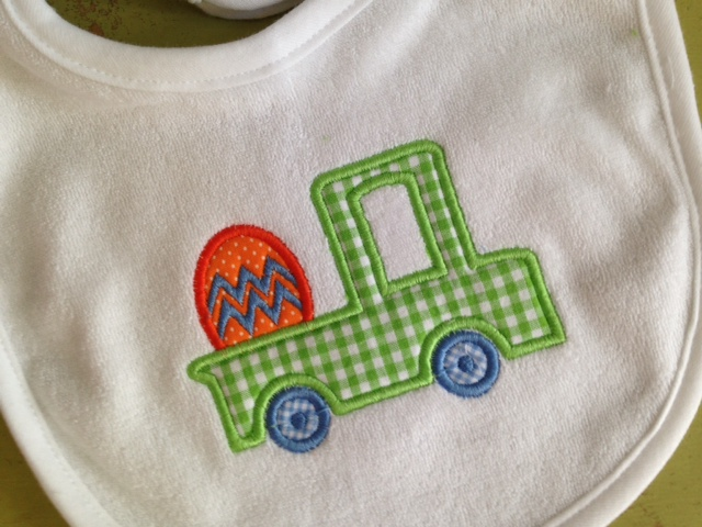 Easter Applique Bib-terry bib, baby, toddler, Easter, monogrammed