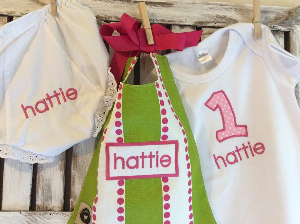 Birthday Bib, Bloomers & Shirt-first birthday, birthday, girl, bloomers, toddler bib, onesie, shirt