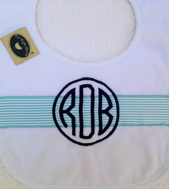 Blue and White Stripe Set-bib, burpie, newborn, infant, cotton