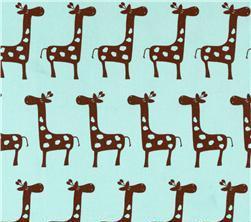 Fabric - Blue Giraffe-