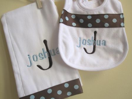 Chocolate and Blue Polka Dots Set-
