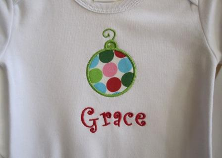 Christmas Ornament Shirt-monogrammed, personalized, girl, boy
