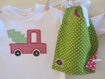Christmas Pick-up Truck Shirt-Christmas, monogrammed, personalized, boy