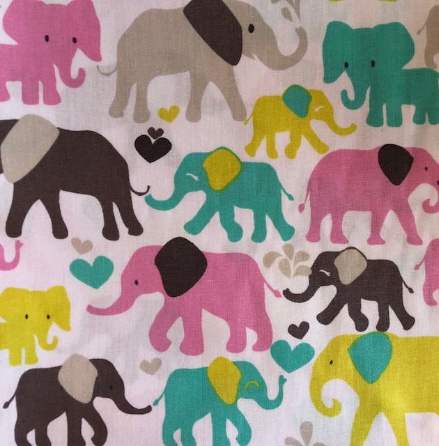 Minky Changing Roll - Pink Elephants-