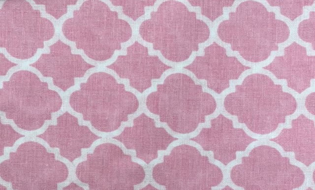 Minky Changing Roll - Pink Lattice-