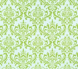 Fabric - Madison - Green & White-