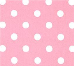 Fabric - Light Pink White Polka Dots-