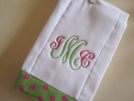 Lime and Watermelon Polka Dots Set-bib, burpie, monogrammed, personalized, girl, polka dots