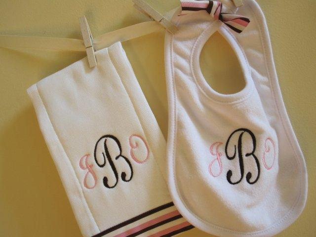 Pink and Chocolate Stripe Set-