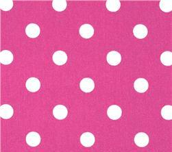 Fabric - Pink White Polka Dots-