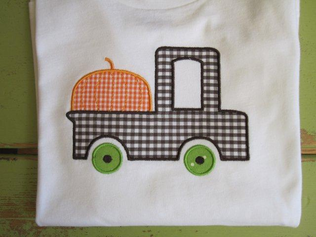 Pumpkin Pick-up Truck-pumpkin, pick-up truck, boy, fall, Halloween, shirt