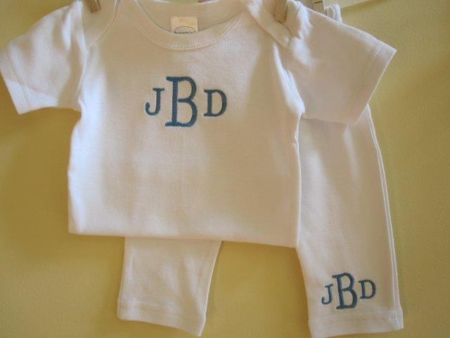 Monogrammed Shirt and Pants Set