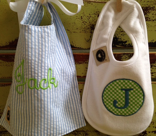 Terry and Toddler Bib Set-bib, infant, toddler, monogrammed, applique, feeding